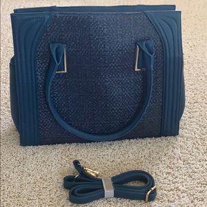 BLUE Daniela Weave Large Bag